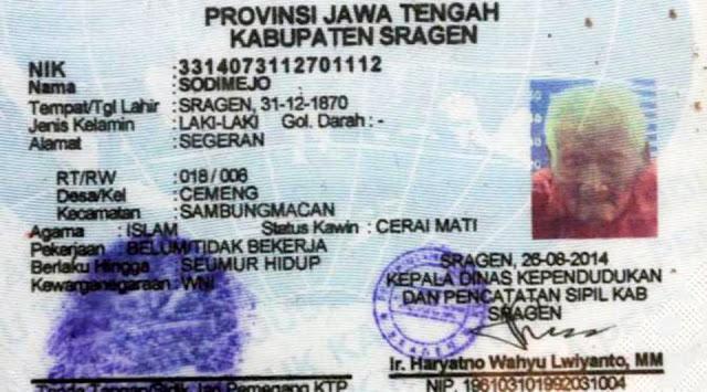 manusia tertua di dunia mbah gotho berasal dari indonesia