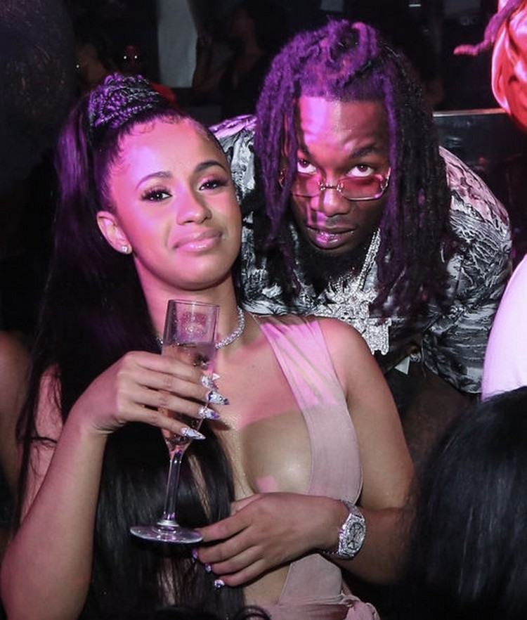 Cardi b and offset are engaged — watch the thought!