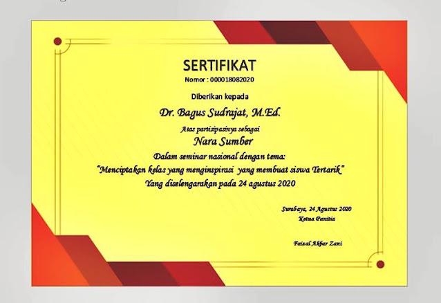 Piagam & sertifikat word kosong