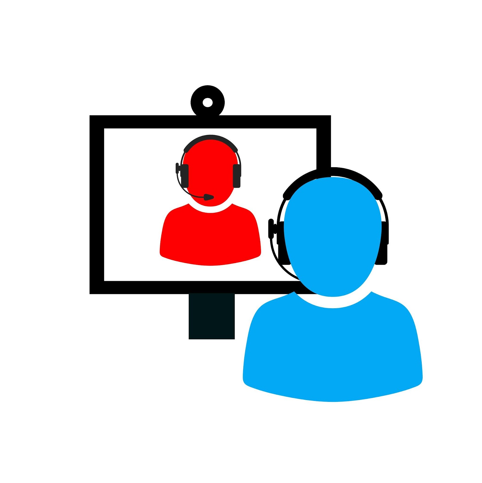 Illustration of online video call