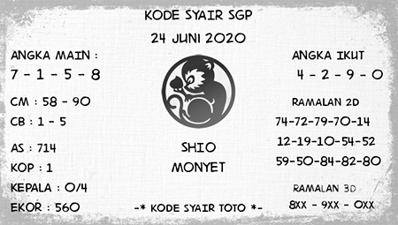 Kode Syair SGP Rabu