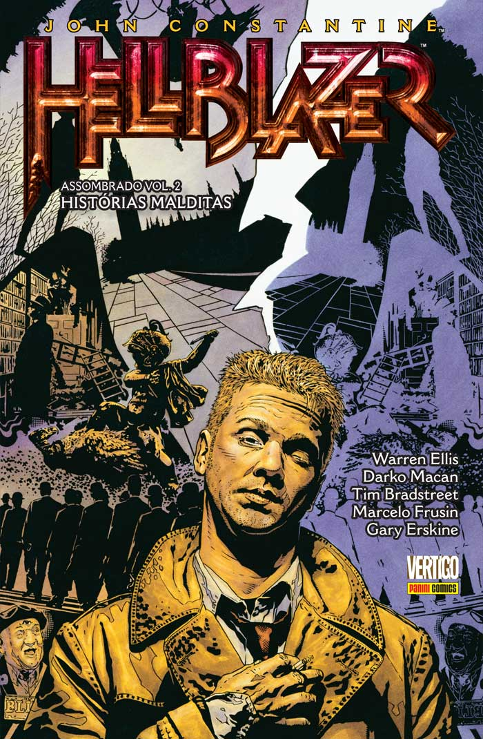 Capa do segundo volume de John Constantine, Hellblazer: Assombrado por Tim Bradstreet.