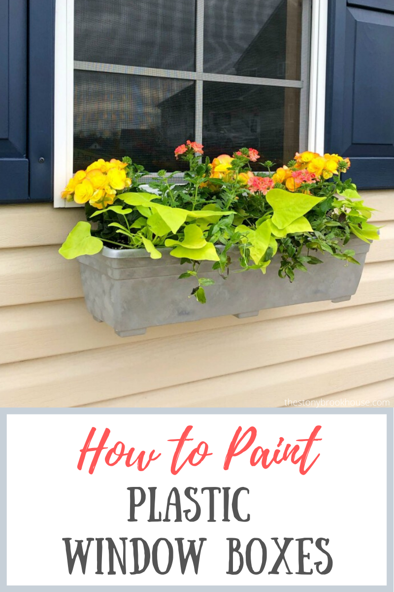 How To Paint Plastic Window Boxes