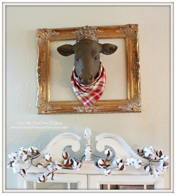 Bessie- Estate Stone Cow-Fall Mantel- From My Front Porch To Yours