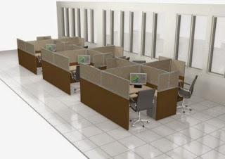 Interior Semarang - Meja Staff Zig-zag