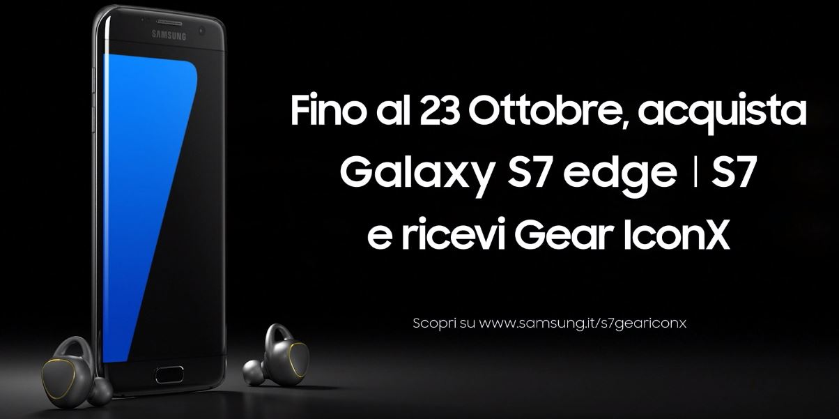 Canzone Samsung S7 con cuffie wireless Gear IconX Pubblicità ottobre