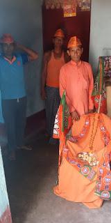 लॉकडाउन को मानते हुए अपने घरों में मनाया गया भाजपा स्थापना दिवस।