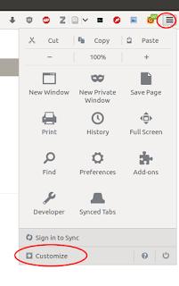 Desactivar auto-ocultar barra de menú en Firefox