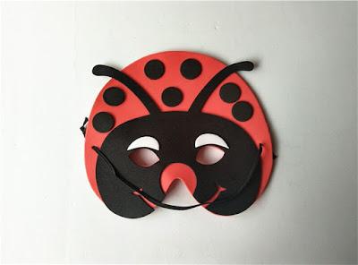 foami de  máscara de mariquita