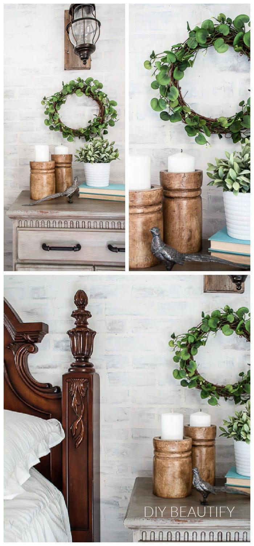 greenery wreath collage