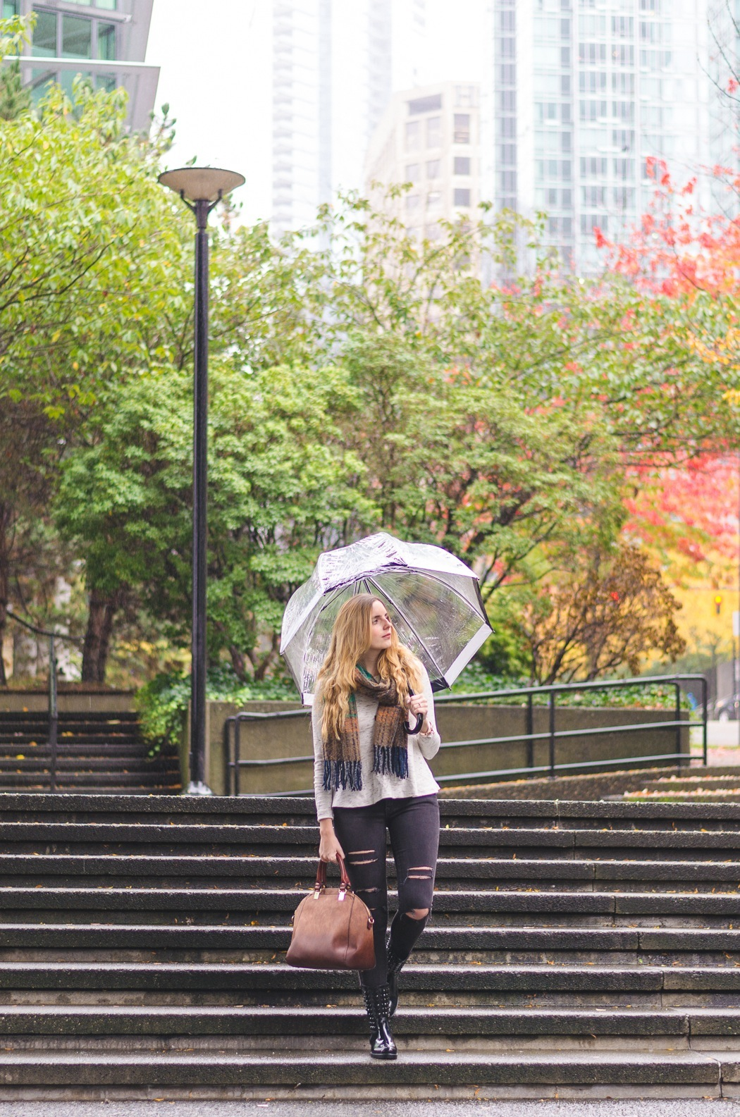 A guide on how to look stylish while also dressing practically for a rainy day