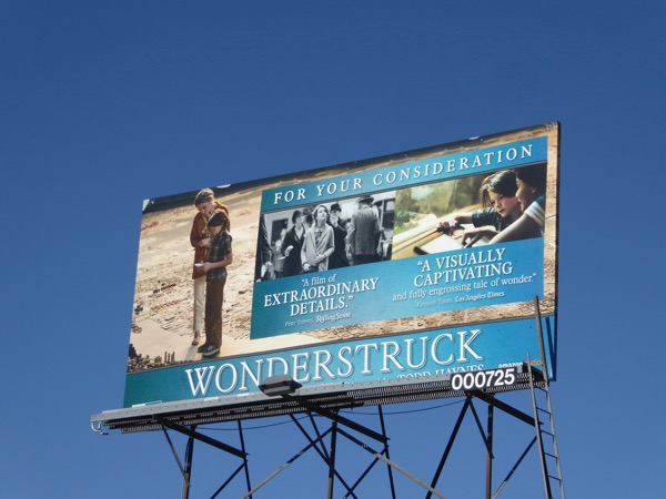 Wonderstruck movie FYC billboard
