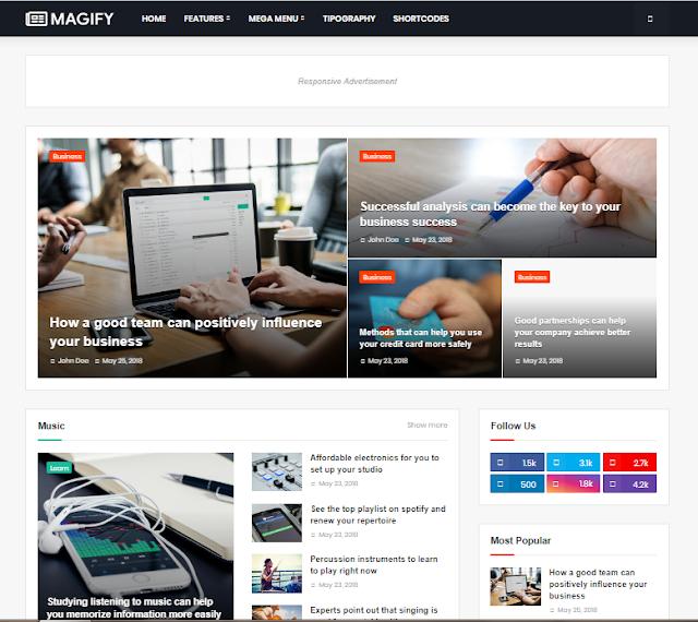 Magify blogger templates    Magify premium templates download