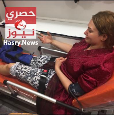 صورة ايمان زوجة شادي ابن اللواء مدحت الدولجي بعد الاعتجاء عليها