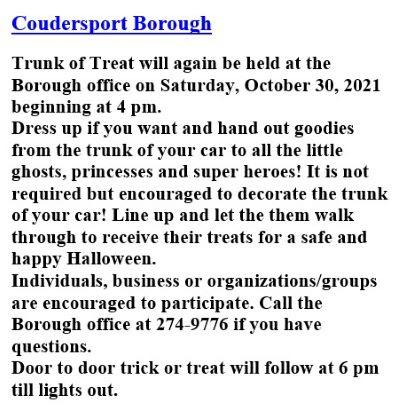10-30 Coudersport Borough Halloween