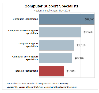 IT Support Professionals in USA  Salary Statistic