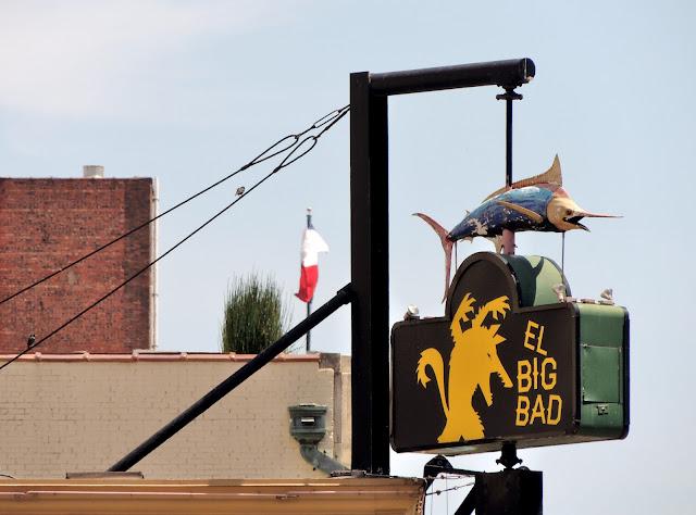 EL BIG BAD WOLF WITH SWORD FISH ATOP