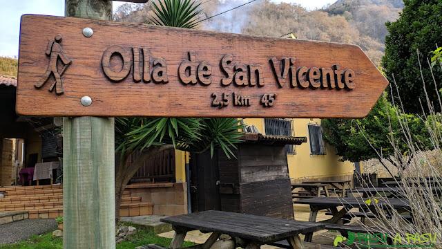 Señalización a la Olla de San Vicente