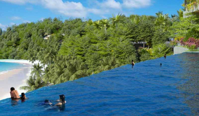 Bể bơi vô cực Flamingo Cát Bà 01