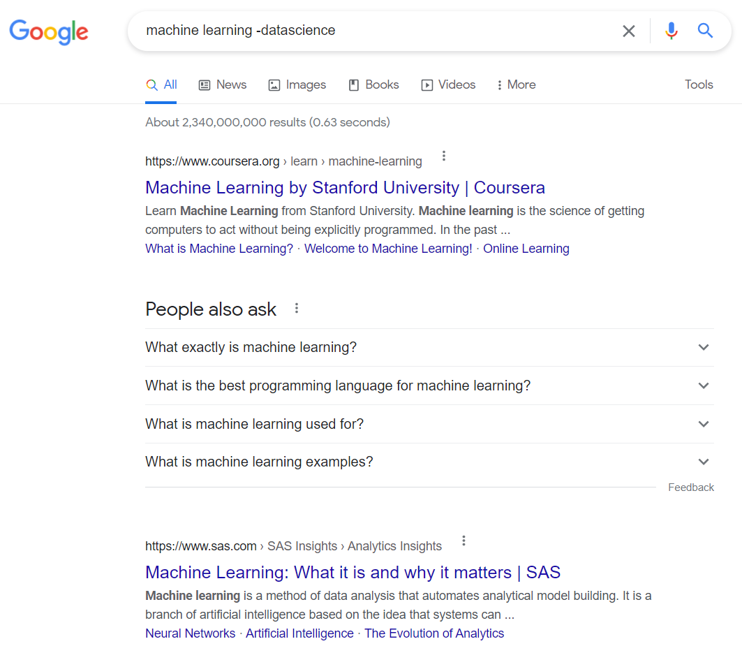 google tricks for machine learning and data science enthusiast