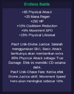 Daftar stat dari Endless Battle