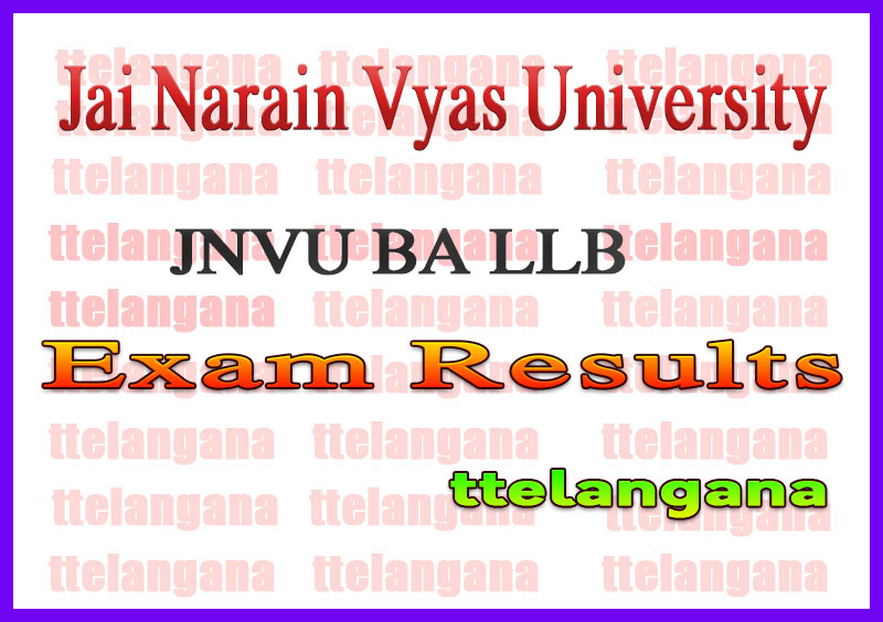 JNVU BA LLB 2nd 4th 6th 8th 10th Semester Result