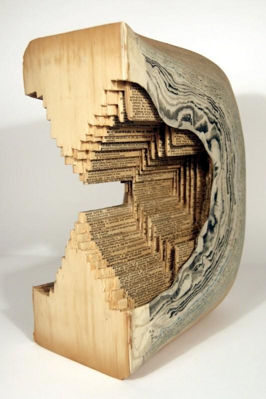 Скульптуры из книг. Brian Dettmer 8