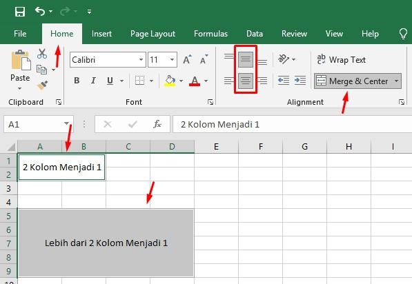 Cara Menggabungkan Dua Kolom Menjadi Satu Kolom di Excel