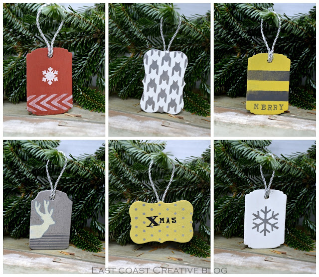 handmade Christmas tags