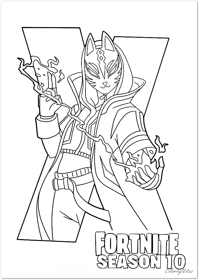 18 Free Printable Fortnite Coloring Pages Season 10 Drift Llama Skull Trooper Coloring Pages For Kids Free Printable