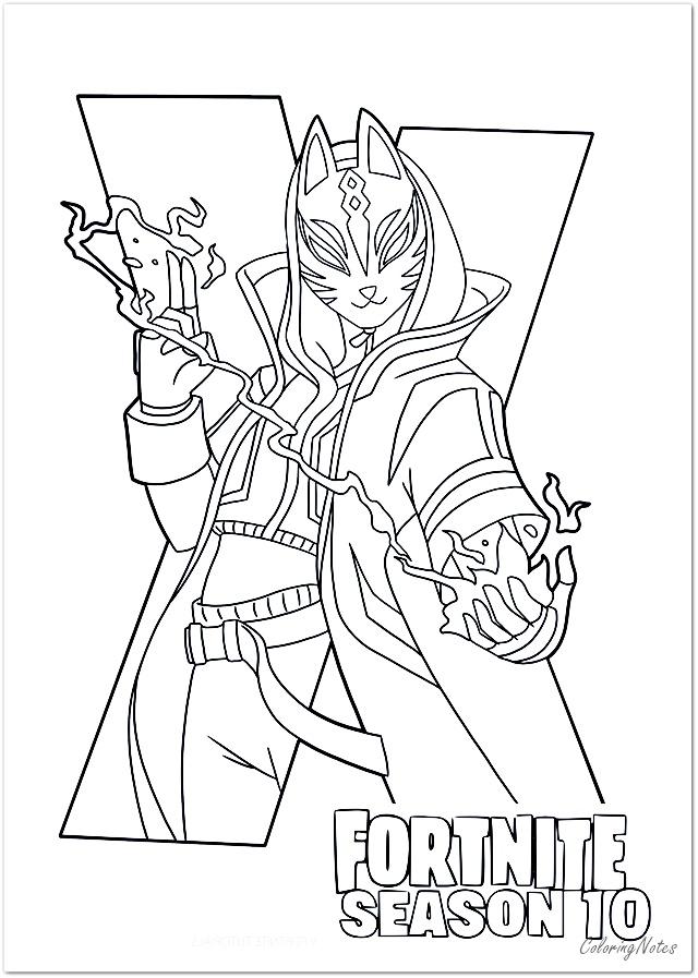 free printable fortnite coloring pages  season 10