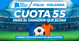 paston megacuota Italia vs Holanda 14-10-2020