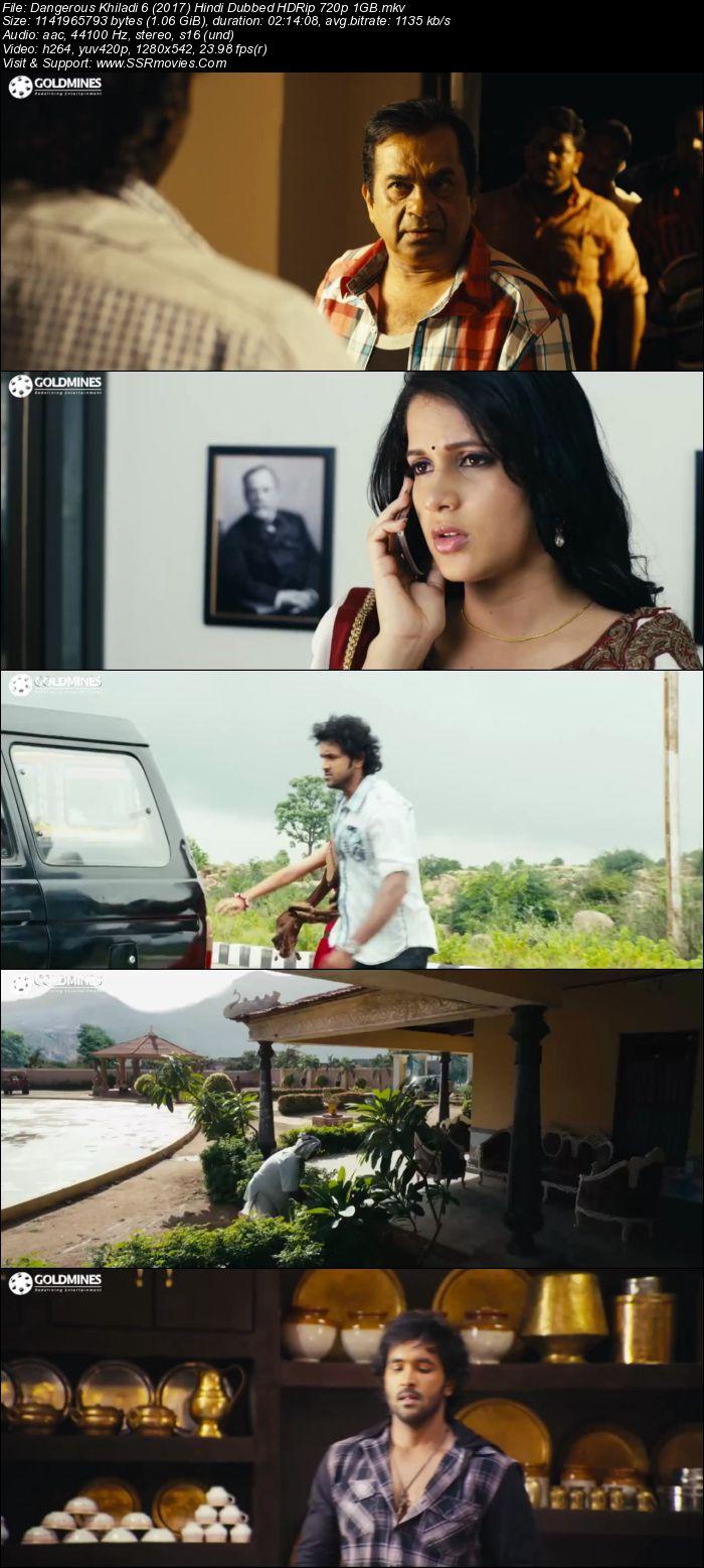 Ak Tha Khiladi Moovi Hindi: Dangerous Khiladi 6 (2017) Hindi Dubbed HDRip 720p 1GB
