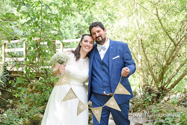 photo de couple mariés, portrait mariage, vallée de l'yon, piquet