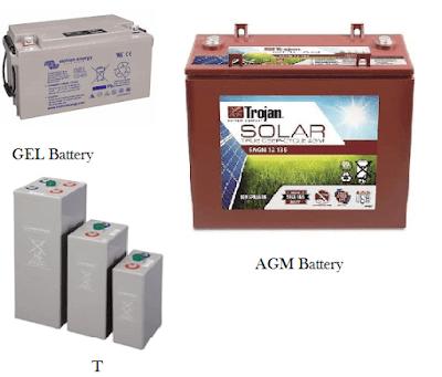 type of solar batteries