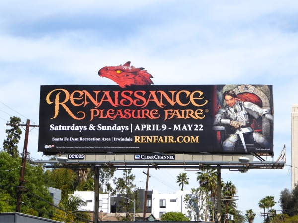 Renaissance Pleasure Faire 2016 dragon billboard