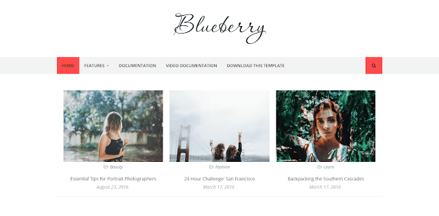Blueberry Blogger Template