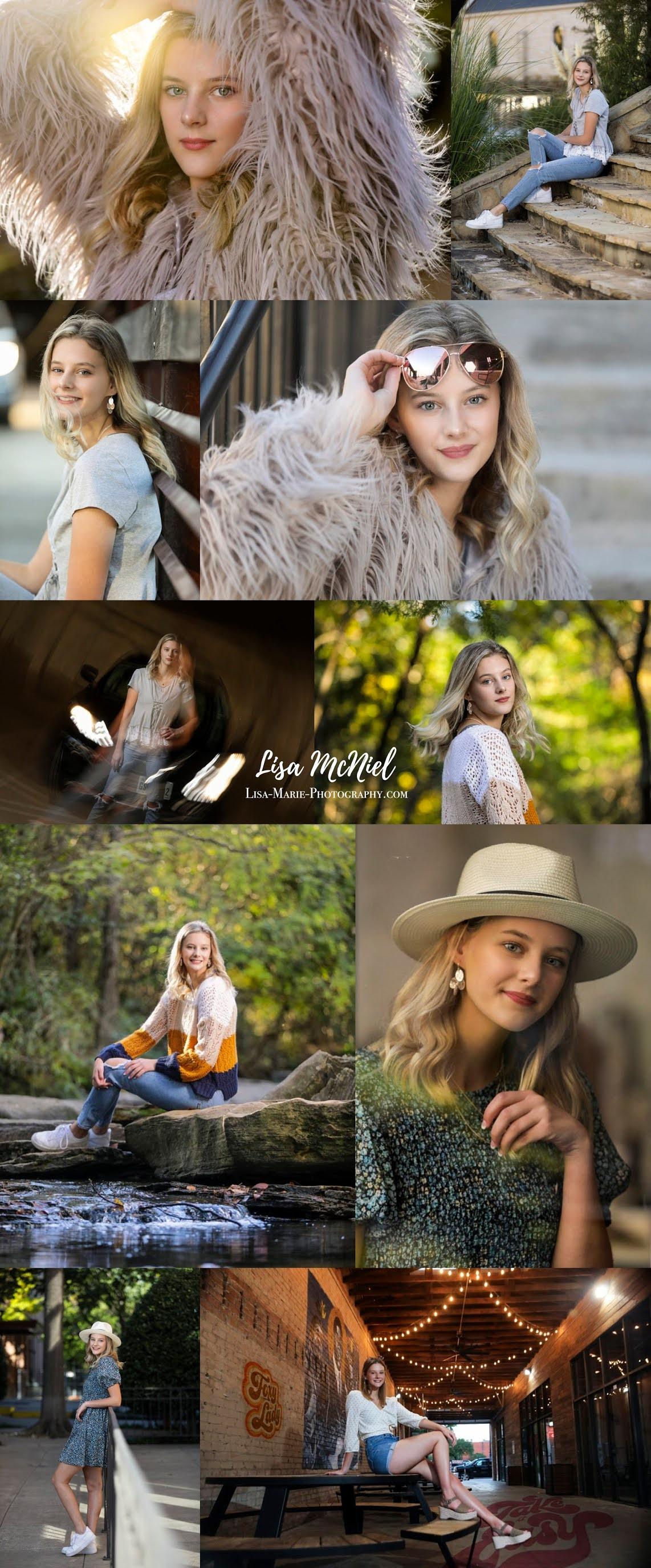 Teen portrait collage