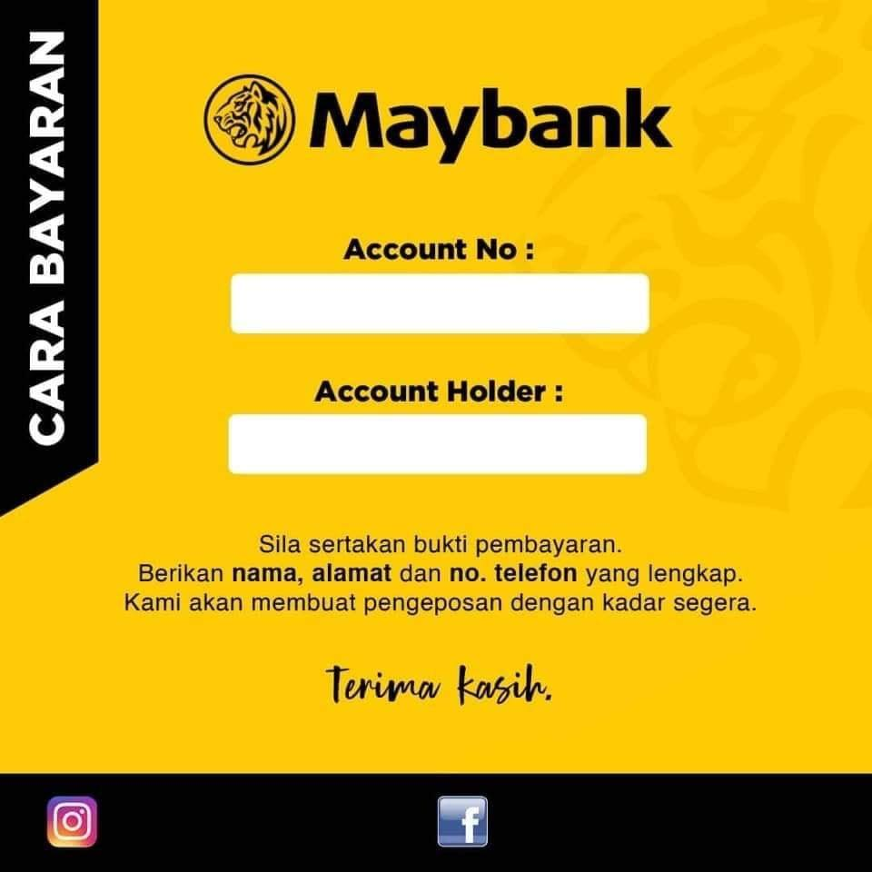 Template Akaun Bank Untuk Peniaga Online Nadhie Wueen