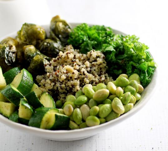 Green Goddess Bowl #vegetarian #vegan #broccoli #green #easy