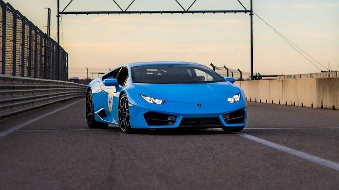 Lamborghini Huracan Carro Azul para Plano de Fundo