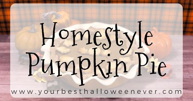 your best halloween ever, homestyle pumpkin pie