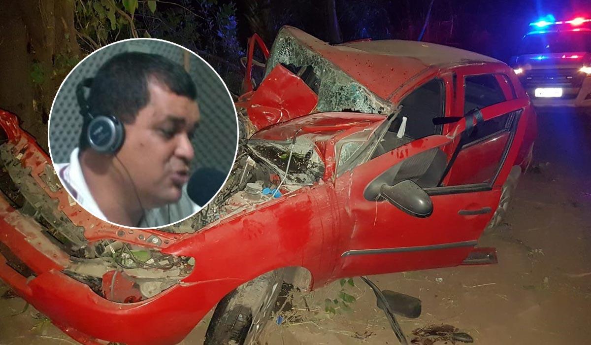 claudiano jatoba morre acidente carro saude bahia2 - Vereador da cidade de Saúde e motorista morrem em acidente na BA-131