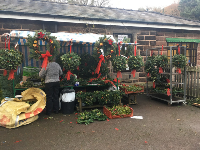 Selling holly wreaths