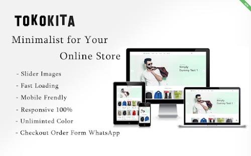 TokoKita Minimalist - Online Store with Checkout WhatsApp