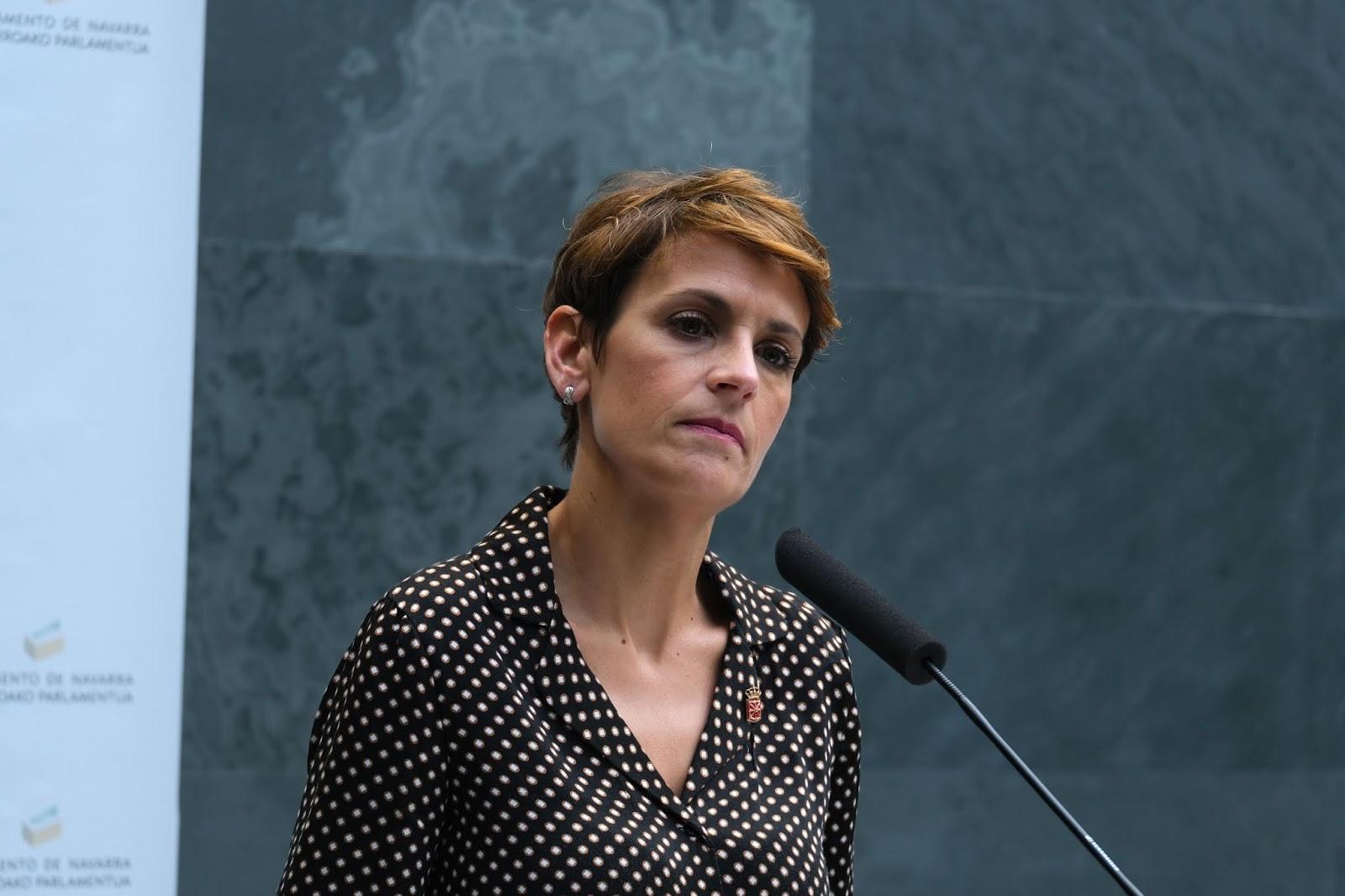 """María Chivite """"Nuestra responsabilidad es aprobar los mejores presupuestos"""""""