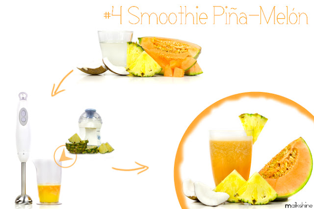 pinnaple - melon smoothie
