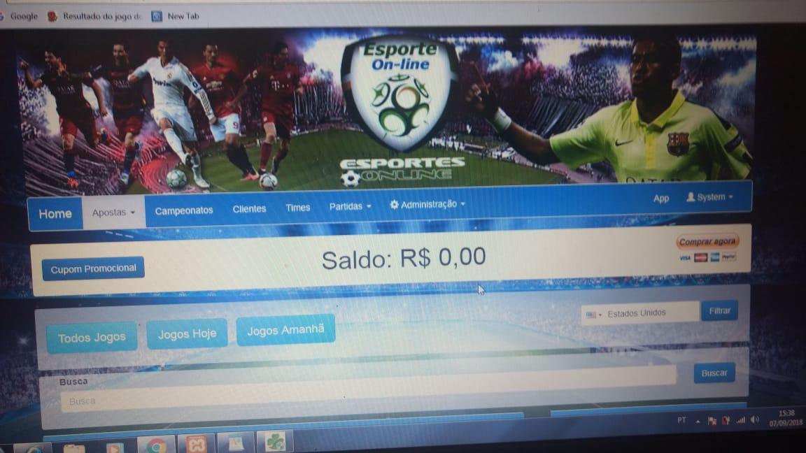 Esportes online apostas