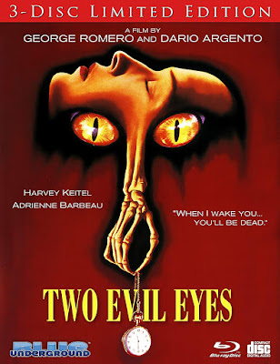 Cover Art for Blue Underground's Limited Edition Blu-ray of TWO EVIL EYES.