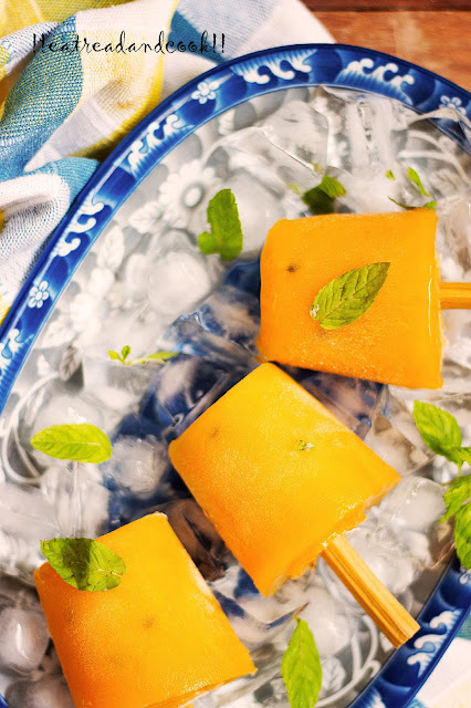 how to make Mango and Passion Fruit Popsicle